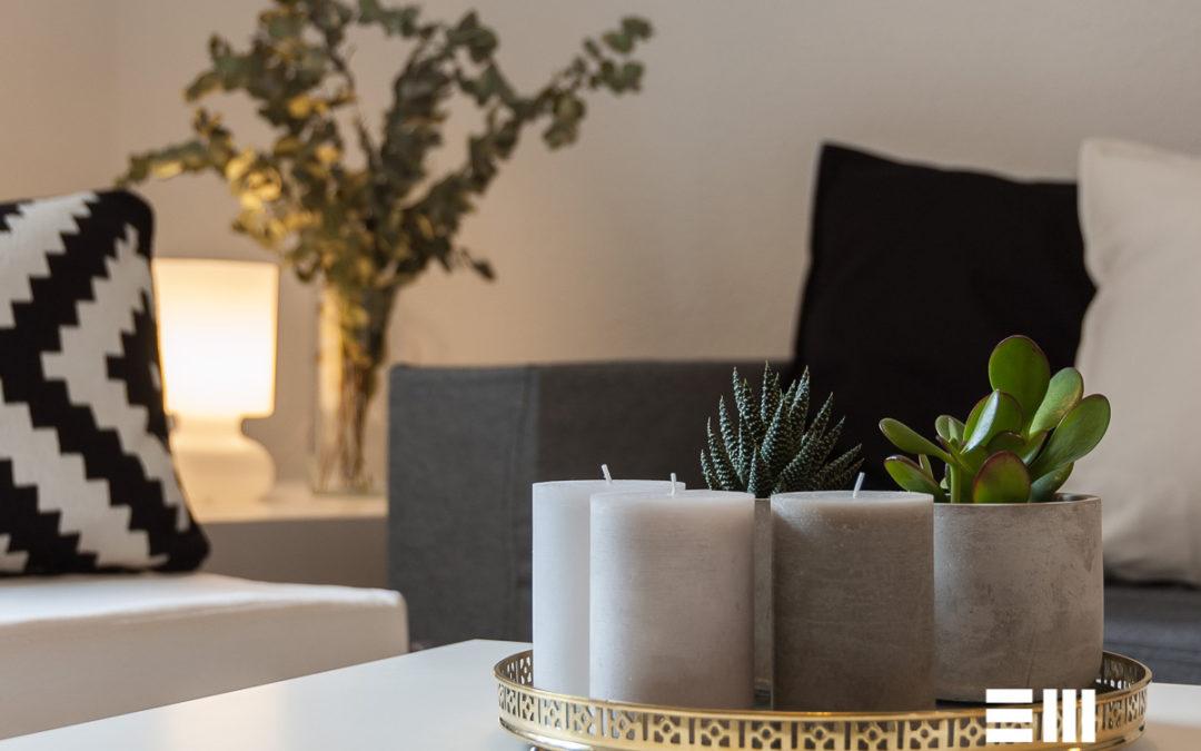 Home Staging con muebles de cartón en vivienda no amueblada