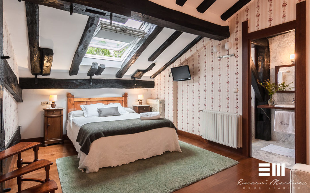 Home Staging y Reportaje Fotográfico en piso superior de la Casa Rural Jesuskoa